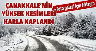 Çanakkale'de kar etkisi!