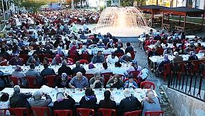 Çanakkale Bayramiç'te 7 bin kişilik iftar