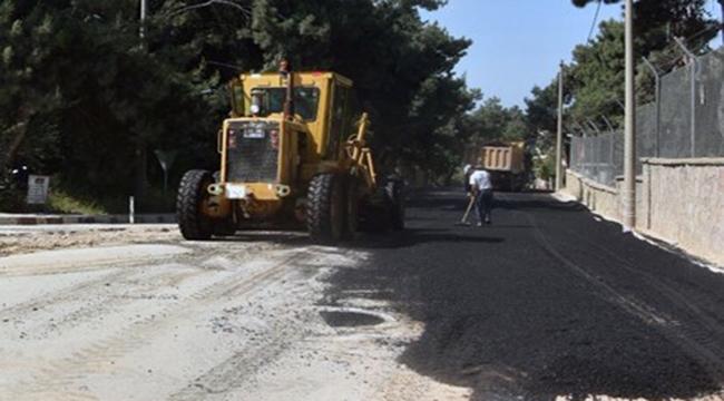 Dardanos ve Güzelyalı'da asfalt çalışması başladı
