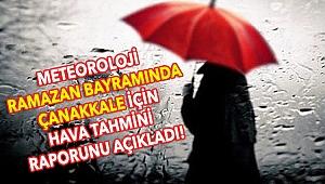 Çanakkale'de bayramda hava nasıl olacak? Meteoroloji açıkladı!