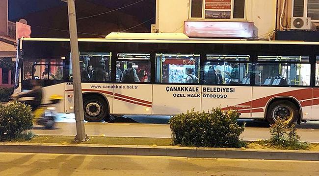 Çanakkale'de halk otobüsü karıştı!