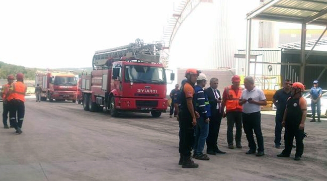 Çan Kaymakamlığından termik santral yangını açıklaması! İşte ilk fotoğraflar