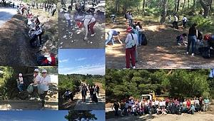 Çanakkale'de Turgutreis Tabyasından 1 kamyon çöp topladılar