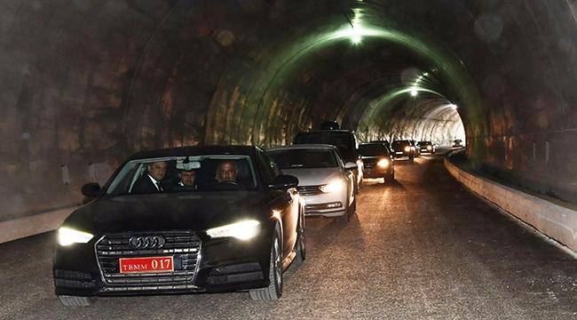 Gelibolu-Eceabat tünellerinden inceleme geçişi