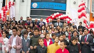 Kepez Hafız Halil Atan Ortaokulu'na görkemli açılış