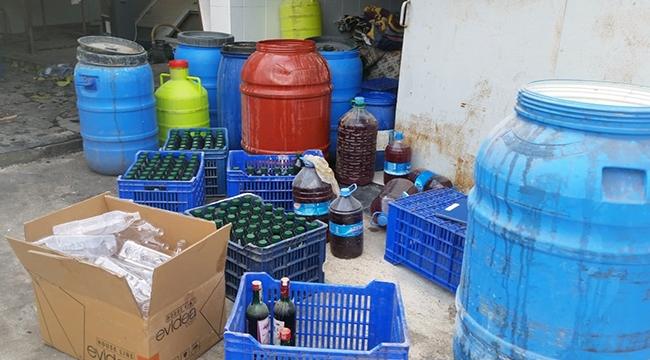 Çanakkale'de kaçak içki operasyonu!