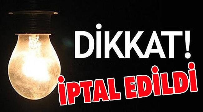 Çanakkale'de pazar günkü elektrik kesintisi iptal!