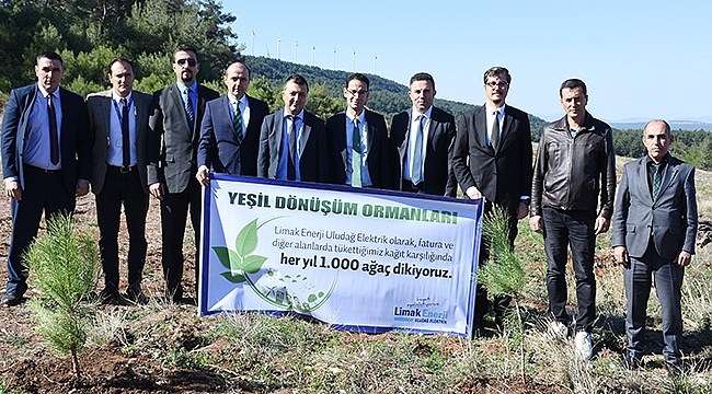 Limak Enerji'den Çanakkale'ye 1000 Fidanlık Orman