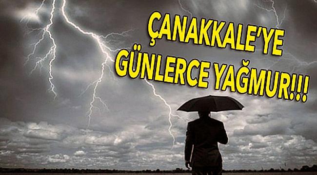Şemsiyeleri hazırlayın, Çanakkale'ye 4 gün yağmur geliyor!