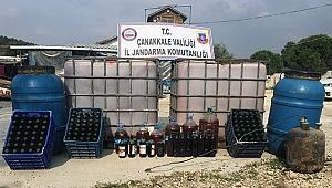 Çanakkale'de 7 bin 125 litre kaçak içki ele geçirildi!