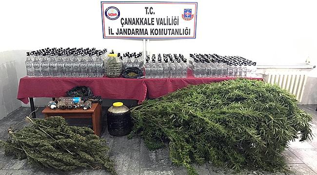 Çanakkale'de uyuşturucu ve kaçak içki operasyonu