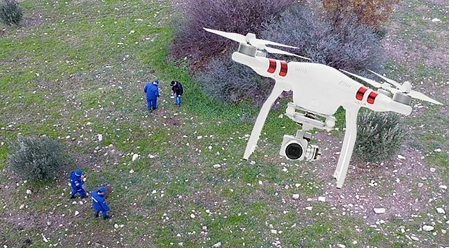 Çanakkale'de izinsiz kazıya drone ile suçüstü!
