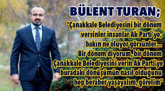 Bülent Turan'dan aday tanıtım toplantısı öncesi önemli açıklamalar!