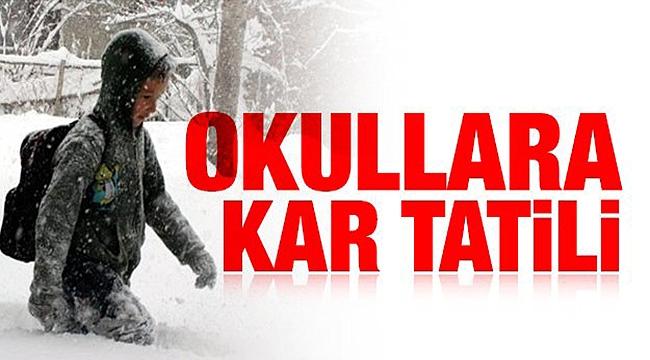 Çanakkale'de ilk kar tatili geldi!