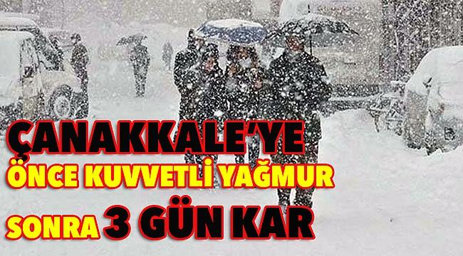 Çanakkale'de kar yağışı 3 gün sürecek!