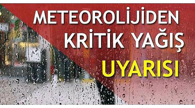 Çanakkale'de Kuvvetli Sağanak Yağışlara Dikkat!