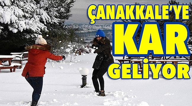 Çanakkale'ye kar geliyor!