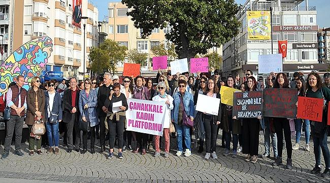 Çocuğa karşı cinsel istismara Çanakkale'den tepki!