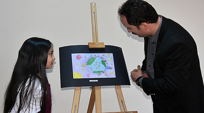 GESTAŞ ailesinin minikleri 'Hayallerindeki Dünya'yı resmettiler