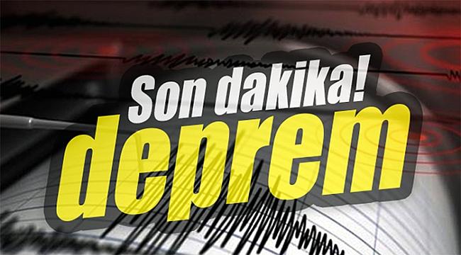 Marmara Denizinde 4,3 büyüklüğünde deprem