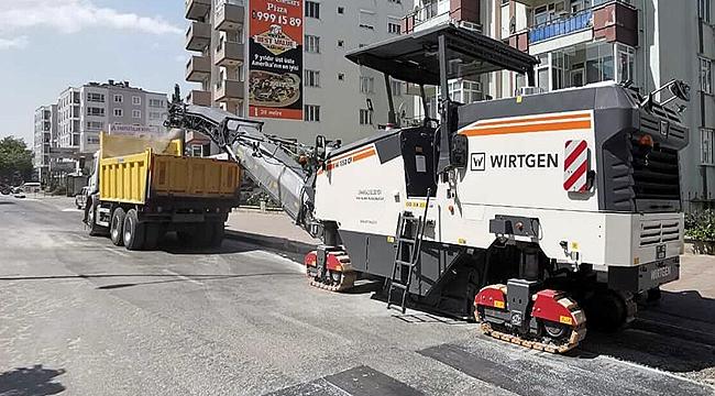 Atatürk Caddesinde çalışma başladı