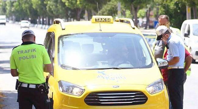 Çanakkale'de ticari taksilere denetim!
