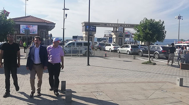 Çanakkale Feribot İskelesi Bayram Trafik Tedbirleri Denetimi