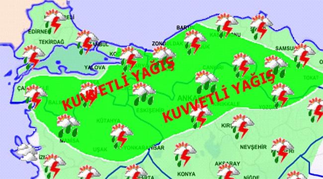 Çanakkale'ye kuvvetli yağış!