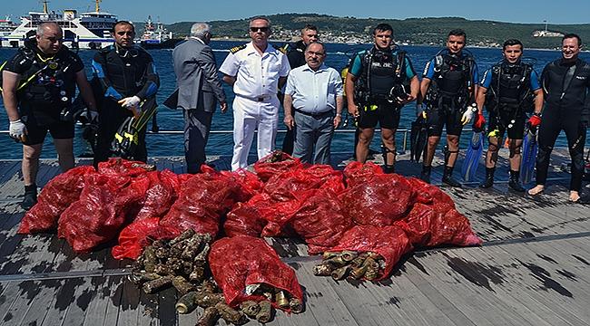 Çanakkale'ye bunu yapmaya hakkımız yok! Denizden çuvallar dolusu çöp çıkarıldı