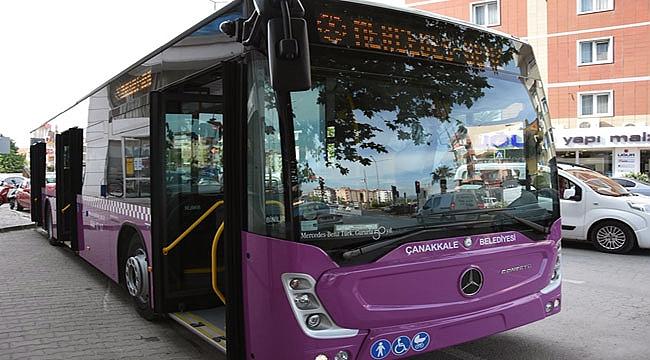 Çanakkale'de bayram boyunca ücretsiz otobüs seferleri