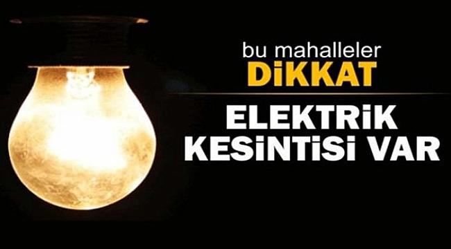 Çanakkale'de elektrik kesintisi!
