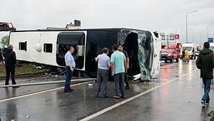 Otobüs kazasında 1 ölü 26 yaralı!