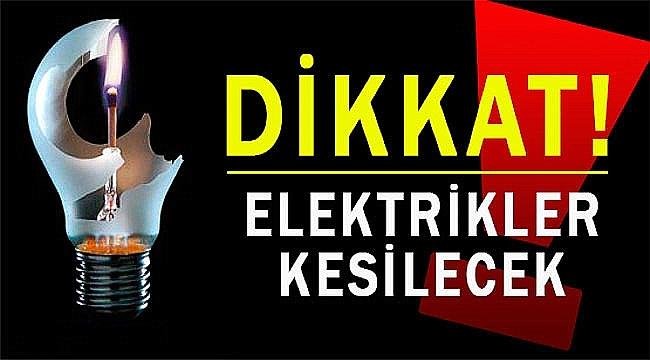 17-18-19 Eylül'de elektrik kesintisi!