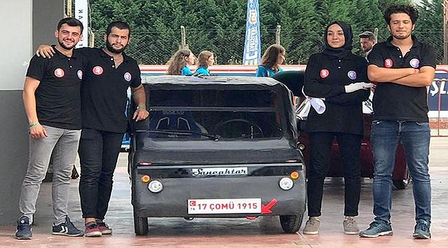 ÇOMÜ'nün Elektrikli Aracı Sancaktar Teknofestte Görücüye Çıktı