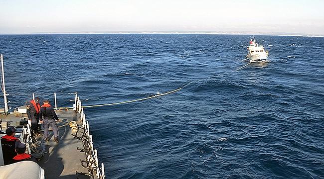 Balıkçıları Sahil Güvenlik Kurtardı