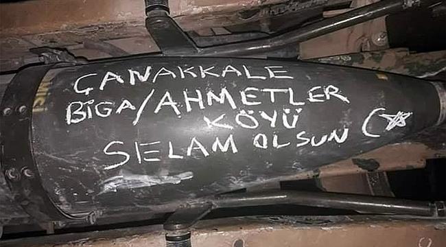 Barış Pınarı Harekâtından Çanakkale'ye selam