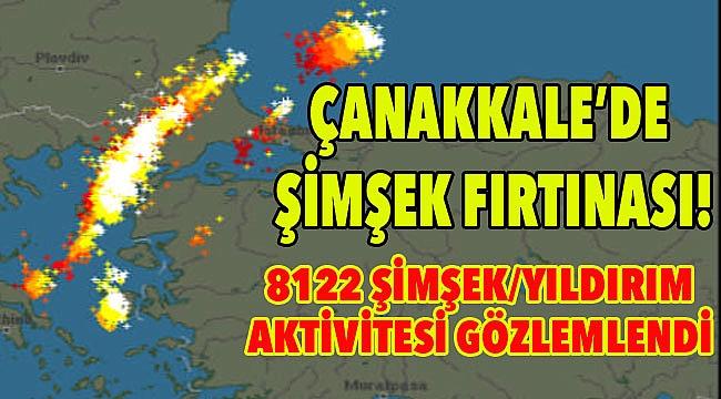Çanakkale'de şimşek fırtınası!