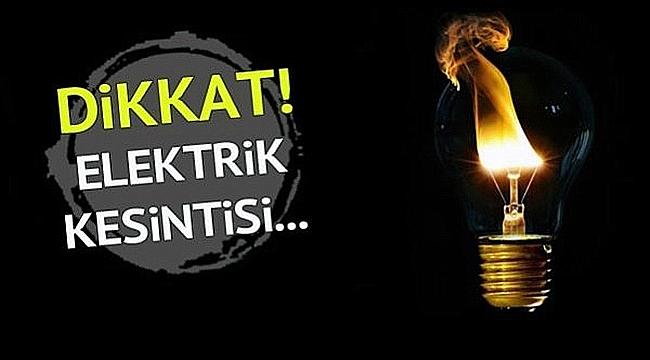 Esenler Mahallesinde 3 saatlik elektrik kesintisi!
