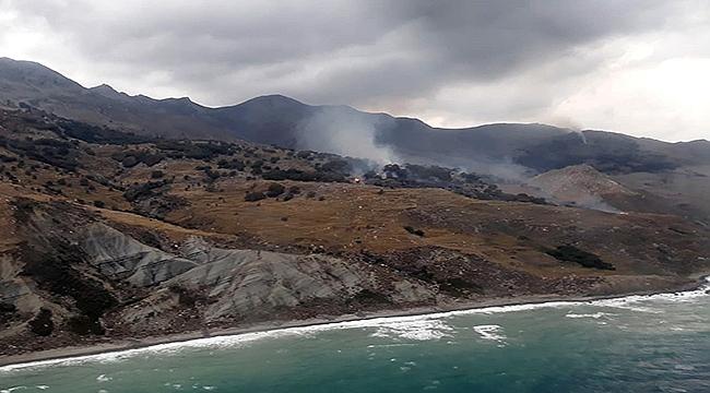 Gökçeada'da 30 hektarlık alan yandı