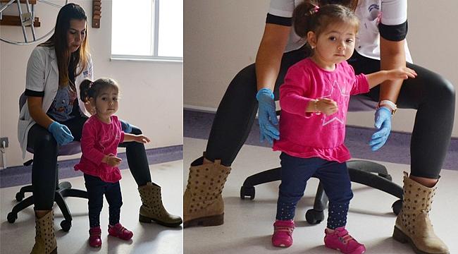 Minik Mihrimah fizik tedavisi ile 43 günde yürüdü
