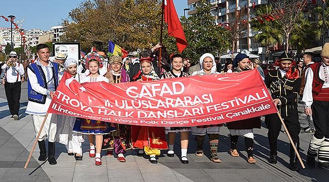 Troya Halk Dansları Festivali Başladı