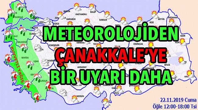 Çanakkale'de kuvvetli yağışlar bekleniyor!