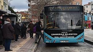 Çanakkale halk otobüsüne ücretsiz biniş bonusu!