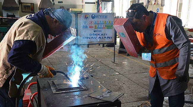 Çelik kaynakçı sınavları yapıldı