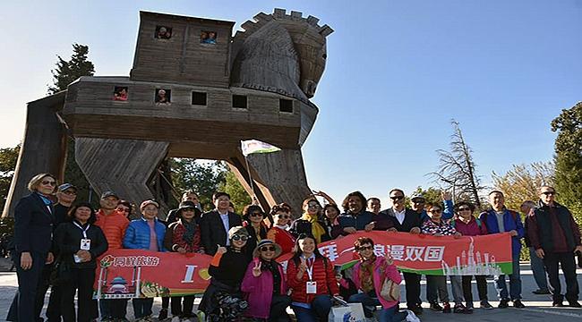 Çin vatandaşlarından Çanakkale'ye kültür ziyareti