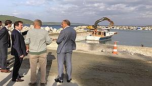 Eceabat balıkçı barınağı yenileniyor