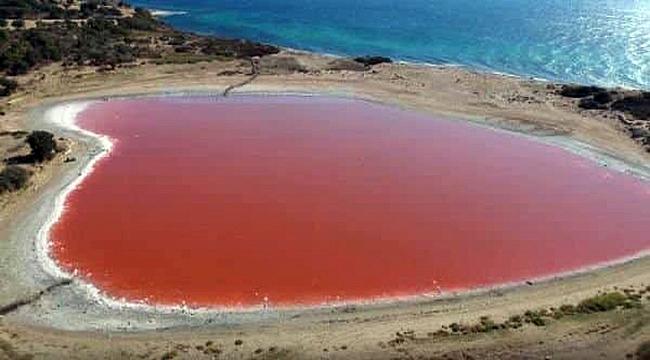 Kalp şeklindeki Pembe Göl, yeni çekim noktası olmaya aday