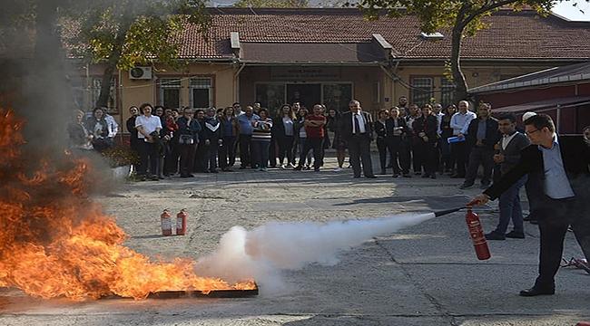 Sağlıkçılara yangın eğitimi!