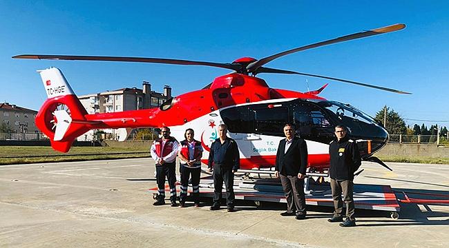 Helikopter ambulans Çanakkale'de yeniden görevde!