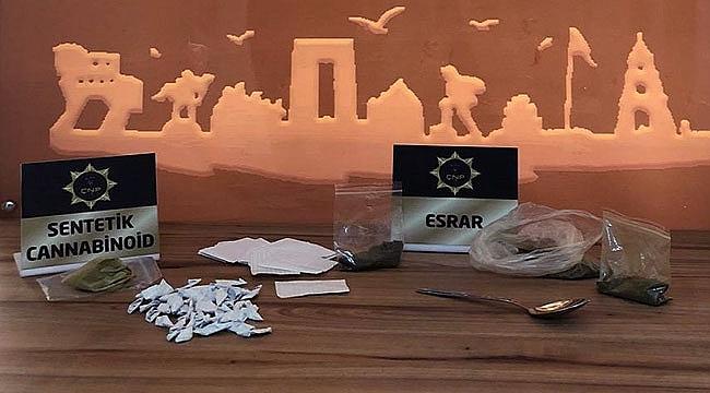 Çanakkale'de uyuşturucu operasyonu 3 tutuklama!